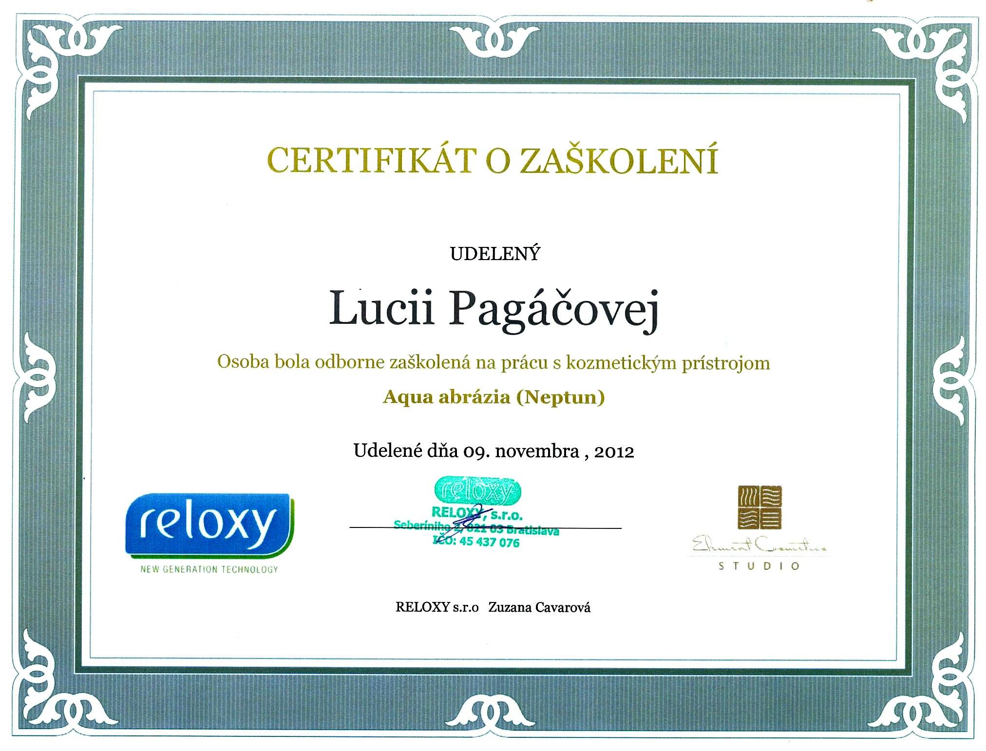 certifikat-salon-krasy-bratislava